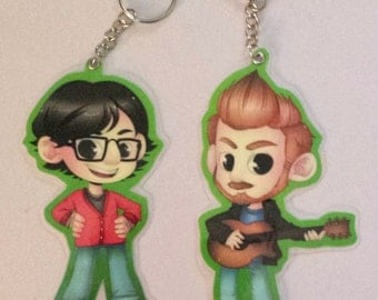 Rhett and Link Key Chain Set