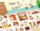 Mori Girl - Paper Die Cut Deco Sticker - Daisyland - 1 Sheet
