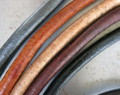 5mm Leather Cord 3 Feet,  Gun Metal, Black, Natural, Dark or Light Brown, Ready to Ship!