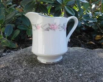 Vintage Diamond China, Made in Japan, Creamer, Pageant Pattern
