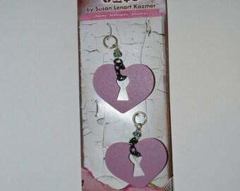 Industrial Chic Pendants Crystal Heart Dream Miracle Set of 2 pkgs DISCOUNT Craft Supplies Scrapbook Supplies
