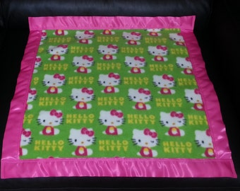 HELLO KITTY Fleece Security Blanket 22x22 Personalized