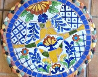 Mosaic stepping stone Mosaic wall plaque Mosaic wall decor-mxsp