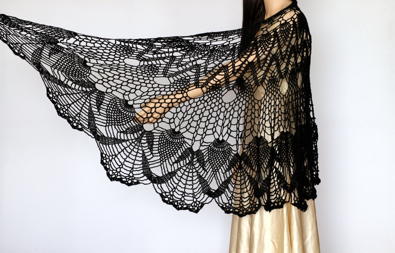 Crochet shawl pattern Shawl PDF pattern Crochet by etty2504