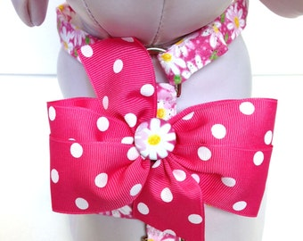 Dog Harness- The Pink Daisy