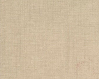 FRENCH GENERAL FAVORITES Moda by the half yard cotton quilt fabric oyster beige tan solid like 13529-22