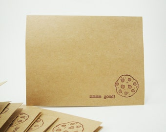 Blank Note Cards, Cookie Note Card, Cookies Card, Chocolate Chip Cookie Card, Chocolate Chip Cookies, Yummy Note Card, Cookie Lovers Cards