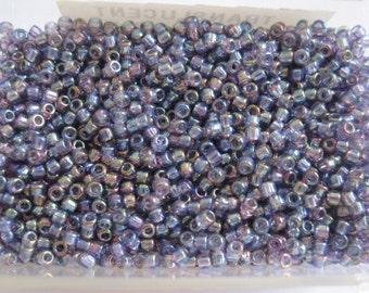 Translucent Rainbow Purple Round Seed Beads, 10 grams, Size 11 (1.8 mm)