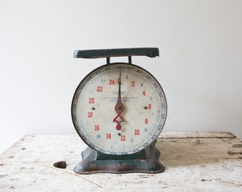Vintage Green Scale by Perfection Scale Vintage Weight Vintage Weighing Scale