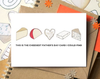 Cheesy Father's Day Card - Funny Father's Day Card - Cheese-Lover Card - Card for Dad - Fathers Day Card - stepdad father's day card