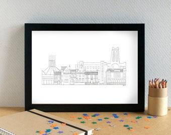 Liverpool Print - Hope Street Print - Liverpool Buildings - Liverpool Art - Liverpool Wedding Gift
