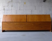 KING mid century Modern TEAK BED headboard
