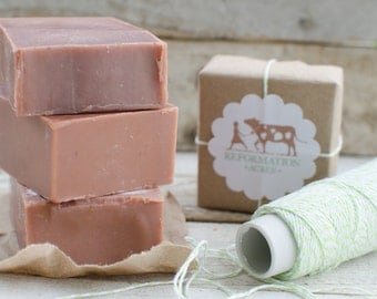 Rose Hip Soap {All-Natural, Herbal Soap, Cold Process Soap, Farmstead Soap, Handcrafted}