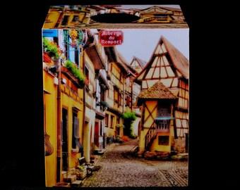 Tissue Box Cover Charming Eguisheim
