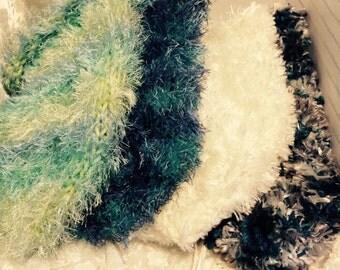 Super Soft, Stretch Knit, Cap, Hat, Beanie, Bernat Boa, Bernat Satin, Fun Fur, One Size fits Most