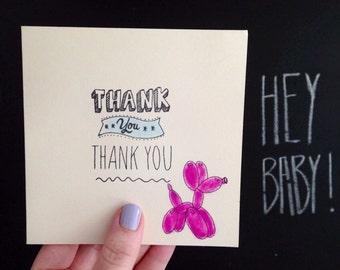 Balloon Dog - Thank you Card