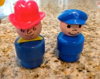 Fisher Price Little people cowboy and pilot
