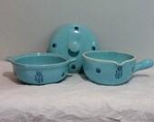 Cronin Tulip Vintage Blue Kitchen Dishware Set of 2