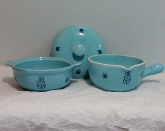 Cronin Tulip Vintage Blue Kitchen Dishware Set of 2