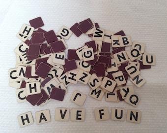 Lot of 166 vintage letter game tiles