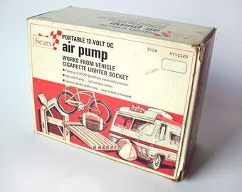 Vintage Sears Portable Air Pump, 12V for Car, in Original Package