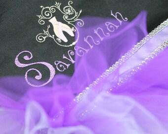 Tutu Ballet Bag, Flower Girl Gifts, Personalized Gifts, Tutu Bags, Ballet Bags, Dance Bags, Personalized Girls Dance Bags, Tutu, Purple