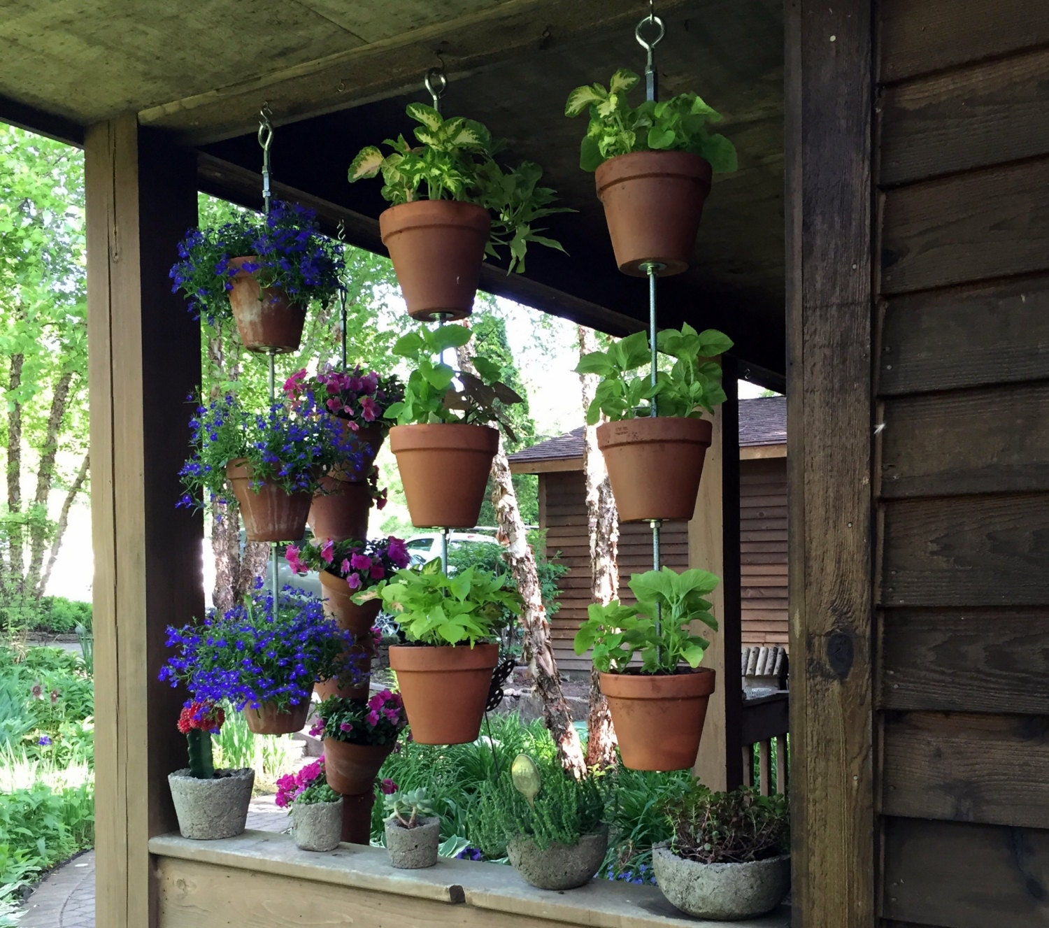 Vertical Garden Container Hanging Garden Perfect Balcony
