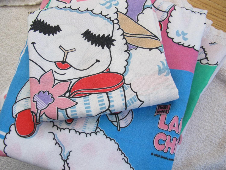 sale vintage lamb chop twin sheet set shari lewis