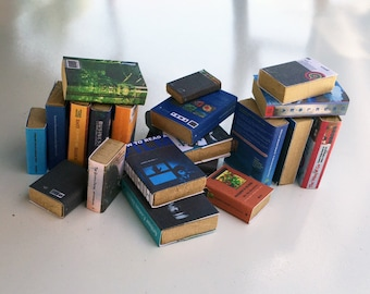 20 1:6 scale books for Bookcase for OOAK Dollhouse or Diorama (Blythe, Barbie, 12'' Fashion dolls, Bratz, Momoko)