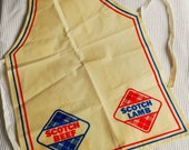 Scotch Beef Lamb Vintage Apron Retro Advertising Cream Blue Red Sotish Butchers Bakers
