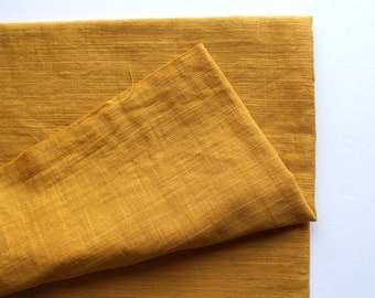 cotton double gauze fabric. soft japanese pure cotton fabric. 102cm (40in) wide. sold by 50cm (19in) long / half yard. mustard yellow