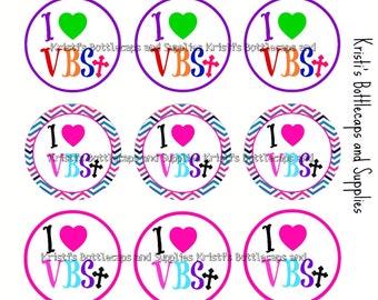 I Love VBS Bottlecap Digital Download