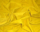 """SUEDE Leather 12""""x12"""" SAFFRON Yellow Garment SUEDE Cowhide 2-2.25 oz / .8-.9 mm PeggySueAlso"""