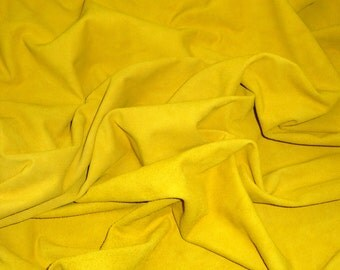 Suede Leather 10 sq ft Saffron Yellow Garment Suede Cowhide 2-2.25 oz / .8-.9 mm PeggySueAlso™