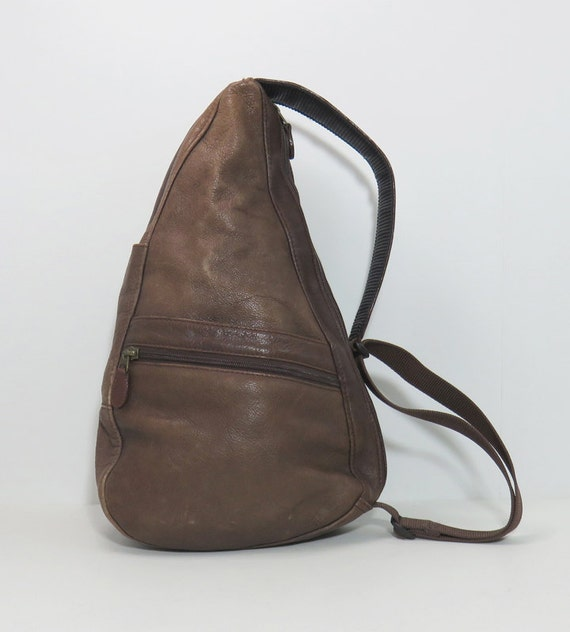 Vintage Ll Bean Leather Sling Cross Body Bag Brown Leather