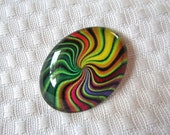 Oval Glass for beading- Focal designer cabochon-30mmX40mm cabochon-oval cabochons