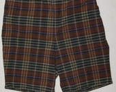 Vintage 1940-1950s 1960s Plaid , VG Used Size S/M, Culottes, Skorts Shorts