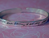 Personalized bracelet, personalized quote, handwriting bracelet, handwriting jewelry, memorial gift, quote bracelet, quote