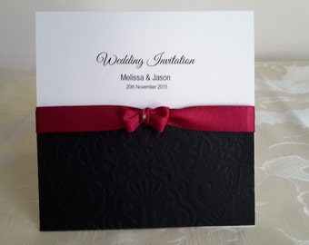 wedding invitation with rsvp and poem