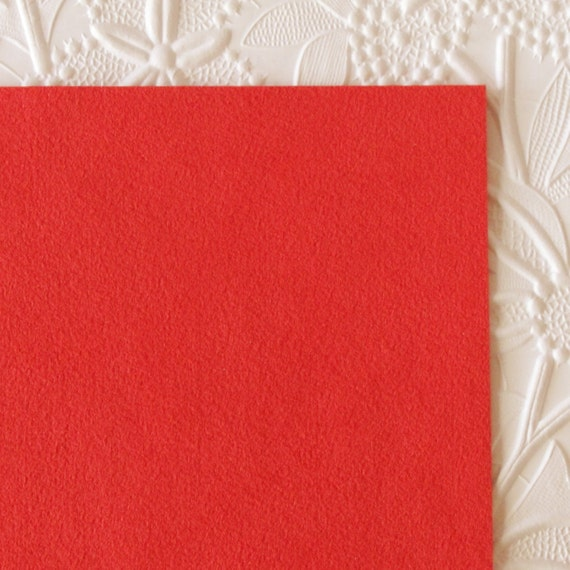 Scoundrel red ultrasuede fabric for bead embroidery