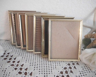 Vintage Gold Metal Frame 3.5 x 5 Wedding Reception Table Number Decoration Paris Shabby Chic Cottage French Country Farmhouse Home Decor