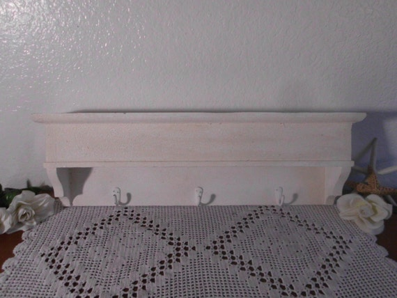 Decorative Wall Shelf With Hooks Mantle Rack : Coat hat rack hook mantle shelf entryway hanger wall mounted
