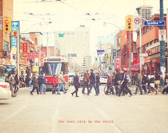 Toronto Photography, Spadina Avenue, Toronto Street Car, Canada, Toronto Photo, Toronto Print, I Love Toronto, Toronto Canada, Art Print