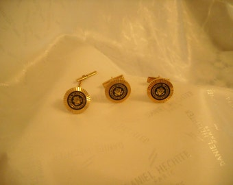 Vintage US Congress Cuff Links and Tie Bar