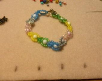 Pastel Daisies Bracelet