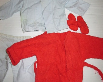 Vintage Sasha Doll Gregor Pyjamas Pajamas Outfit Complete Robe PJ's and Slippers