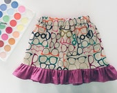 Girls Clothing, Back to School Outfit, Ruffle Skirt, Girls Skirt, First Day of School, Girls Birthday Gift, Girls Skirts, Baby Girl Skirt