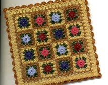 Dollhouse Miniature Afghan Bedspread Throw Warm Thimbleberries Colours - MADE TO ORDER