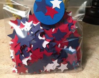 Red White & Blue Star Confetti