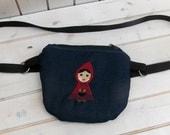 Belt bag/belt pack/hip bag/ fanny pack/ waist bag/ waist purse/woman bag/Boho bag/Epi pen case  Little Red Riding Hood waist bag, fanny pack